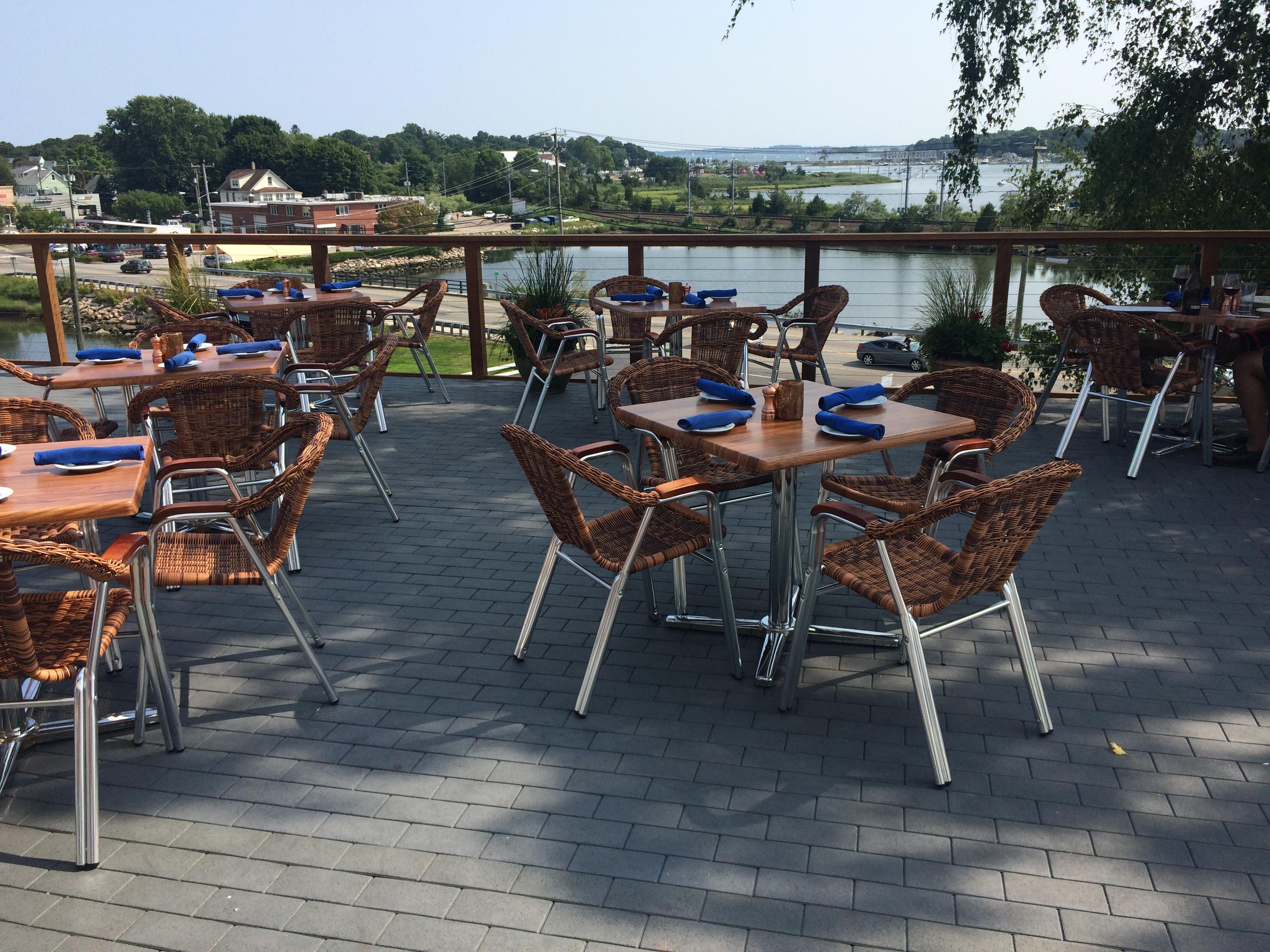 Harbour House Restaurant At Mystic Inn Eagle Rivet Roof