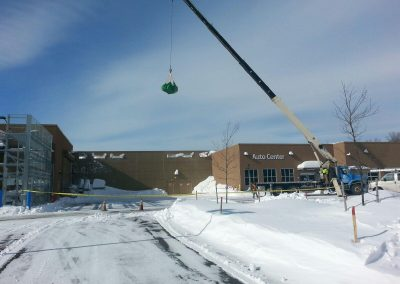 Walmart Rooftop Snow Removal, Seabrook, NH