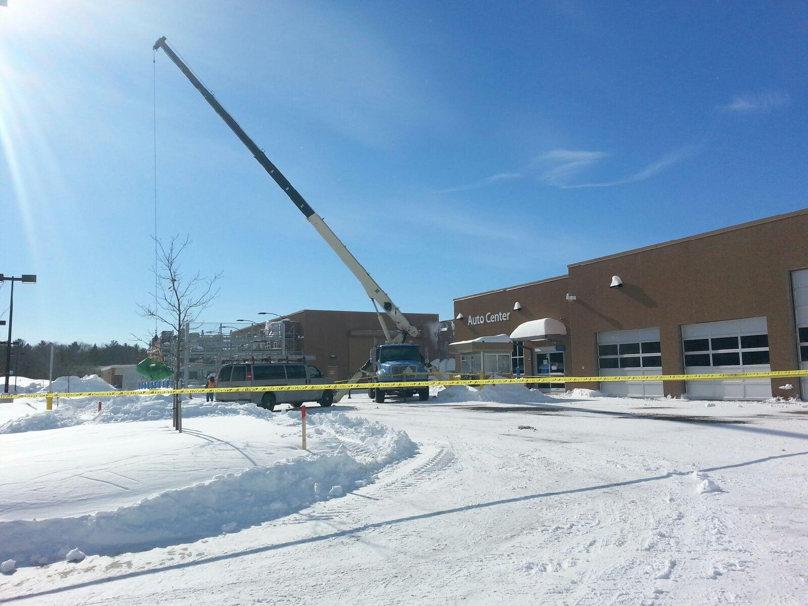 Walmart Rooftop Snow Removal Seabrook Nh Eagle Rivet