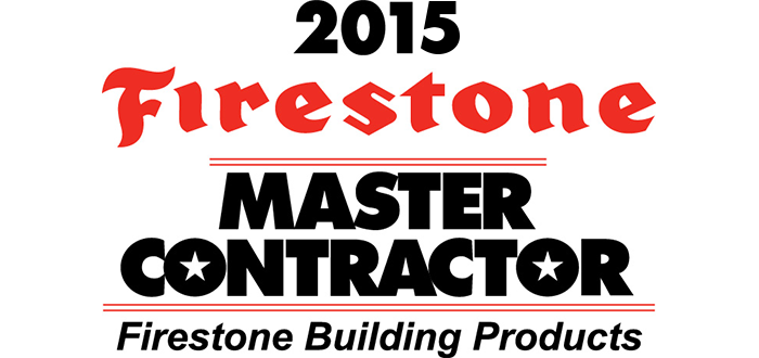 Read Our 2015 Firestone Master Contractor Award Letter